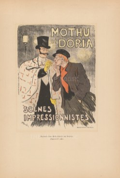 Mothu et Doria: Advertisement for popular singers by Théophile-Alexandre Steinlen, an artist of the Montmartre circle.