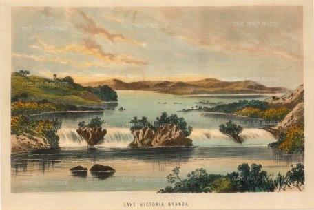 Uganda: Lake Victoria (Nyanza). View of Owen Falls.