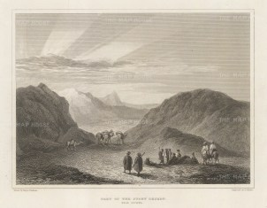 "Denham: Sahara, Libya. 1826. An original antique steel engraving. 8"" x 6"". [AFRp1398]"