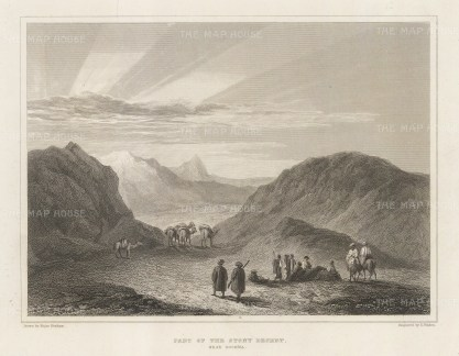 "Denham: Sahara, Libya. 1826. An original antique steel engraving. 8"" x 6"". [AFRp1398]"