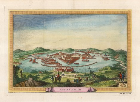 Tenochtitla (Old Mexico City): The Aztec capital before being captured by Hernan Cortez of Spain in the 16th century.