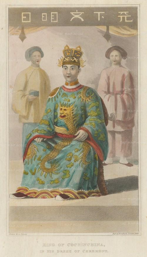 King of Cochinchina (Vietnam) in ceremonial dress.