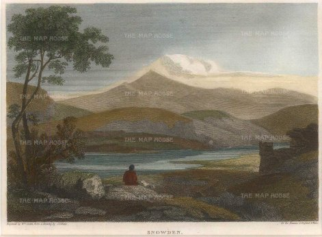 "Harris: Snowden. 1813. A hand coloured original antique steel engraving. 5"" x 4"". [WCTSp479]"