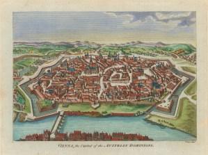 """Hogg: Vienna, Austria. 1793. A hand coloured original antique copper engraving. 6"""" x 5"""". [AUTp238]"""