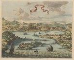 Iran: Gamron (Bander Abbas) Bird's eye of the city and the Straits of Hormuz.