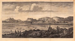 Iran: Persepolis (Takht-e-Jamshid). Panoramic view of the ruins of the Royal Complex of the Achaemenid Empire destroyed by Alexander the Great in 330 BC.