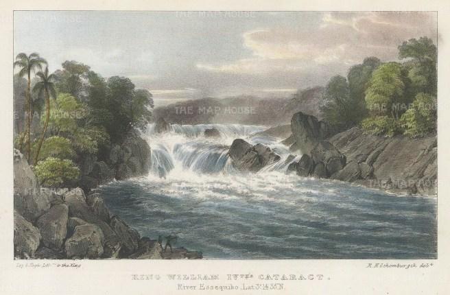 """Murray: Essequibo River, Guyana. 1835. A hand coloured original antique lithograph. 8"""" x 5"""". [SAMp952]"""