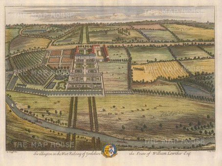 Swillington: West Riding of Yorkshire. Seat of William Lowther, Esq. Castle Howard.