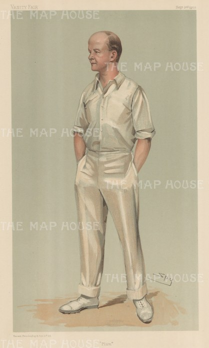 "Vanity Fair: Mr Pelham F Warner. 1903. An original antique chromolithograph. 8"" x 14"". [SPORTSp1366]"