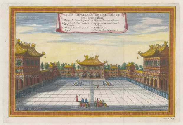 Peking: Imperial Hall of Audience: With key in French.