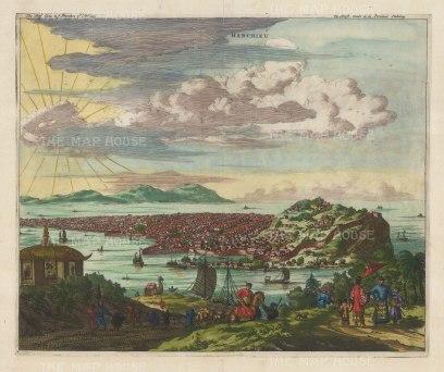 Hangzhou, Zhejiang Province: Panoramic view of the former capital.
