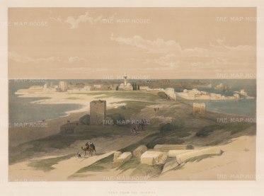 "Roberts: Tyre. 1849. A hand coloured original antique lithograph. 20"" x 14"". [MEASTp111]"