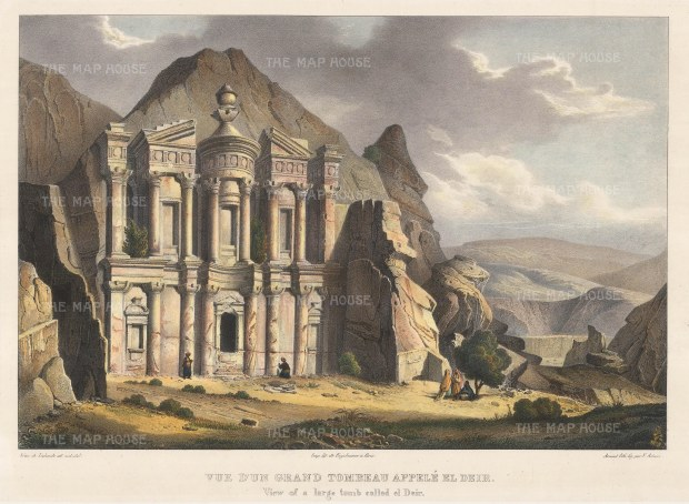 Petra: El- Deir or The Monastery. Built in a reinterpertation of the Corinthian order, the monastery was a temple and dining hall.