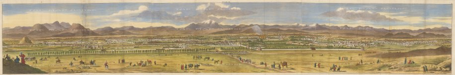 Iran: Isfahan. Panorama prior to the city being sacked by the Ghili Pashtun army in 1722.