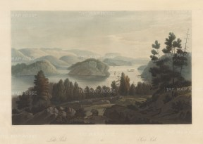 "Boydell: Lake Sinli, Norway. 1820. An original colour antique aquatint. 14"" x 10"". [SCANp327]"