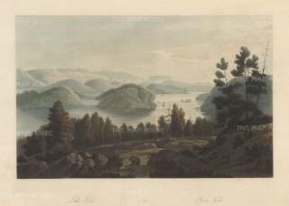 "Boydell: Lake Sinli, Norway. 1820. An original colour antique aquatint. 14"" x 10"". [SCANp327]"