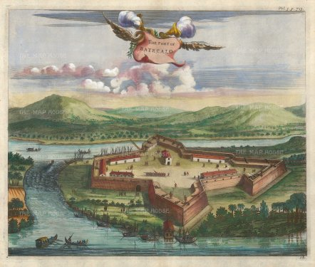 Batecalo Fort: Built by the Portuguese in the lagoon of Batecalo, and seized 10 years later by the Dutch.