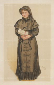 Portia of the Courts: Georgina Weldon succesfully sued numerous persons including her husband and her doctor whilst representing herself, and over 20 years brought over a 100 cases to the court. Portia is in reference to the heroine of Shakespeare's The Merchant of Venice. SPY.