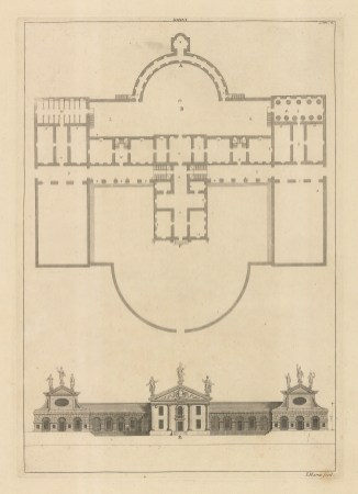 Architectural Elevation: Facade and plan XXXVI.