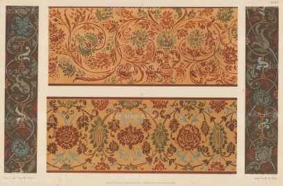 Russian Imperial Collection: Four coordinating painted interior patterns.
