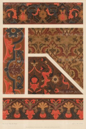 Russian Imperial Collection: Five coordinating painted interior patterns.