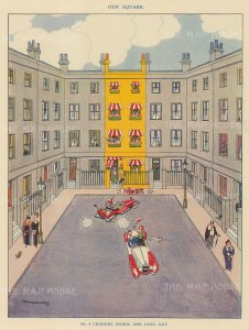 """Punch: No 5 Changes Hands and Goes Gay. 1923. An original vintage chromolithograph. 7"""" x 10"""". [DECp2149]"""