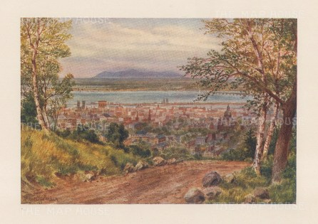 "Mower Martin: Montreal. 1907. An original antique chromolithograph. 6"" x 5"". [CANp654]"