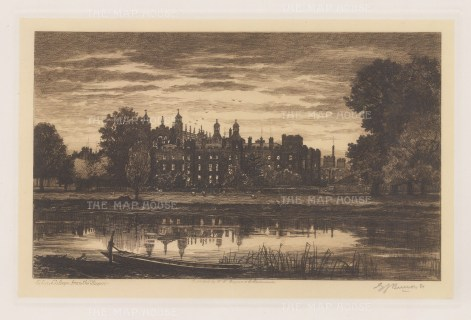 View from the Thames. Signed in pencil.