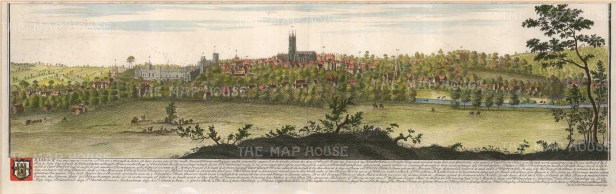 "Buck: Warwick, Warwickshire. 1741. A hand coloured original antique copper engraving. 31"" x 11"". [ENGp199]"