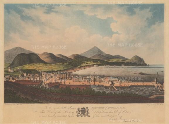 "Meredith: Douglas, Isle of Man. 1805. An original colour antique aquatint. 19"" x 14"". [ENGp209]"