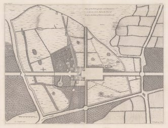 "Campbell: Goodwood, Sussex. c1740. An original antique copper engraving. 20"" x 15"". [ENGp58]"