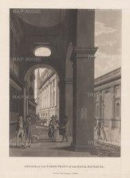 "Malton: Royal Exchange. 1800. An original antique aquatint. 11"" x 14"". [LDNp3001]"