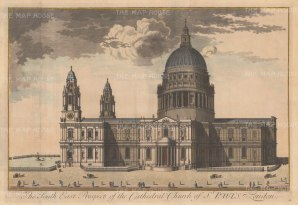 """Harris: St Paul's Cathedral. 1715. An original antique copper engraving. 26"""" x 17"""" [LDNp3450]"""