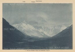 Mount Everest: From the Rongbuk Valley. 1921 British Reconnaissance Expedition.