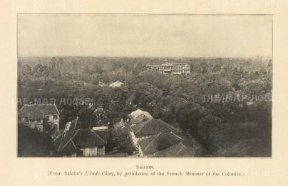 """Clifford: Ho Chi Minh (Saigon), Vietnam. 1905. An original antique photolithograph. 6"""" x 4"""". [SEASp1657]"""