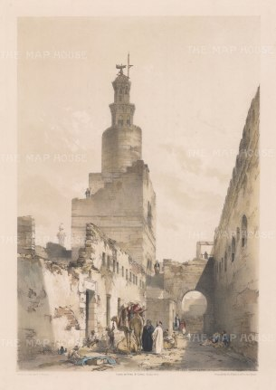 "Hay: Mosque of Tooloon. Cairo. 1840. An original colour antique lithograph. 12"" x 16"". [EGYp1020]"