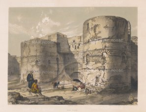 "Hay: Kasr Esh-Shema Gateway, Cairo. 1840. An original colour antique lithograph. 14"" x 9"". [EGYp498]"