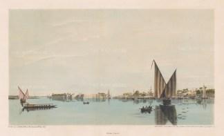 Island of Er-Rhodah (Rawdah Island): Southern part of the Island with the town of Masr El-Ateekah.