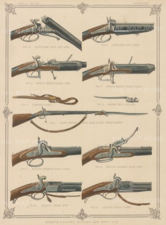 Guns:Five Breech-Loading Rifles and Shot Guns iincluding Short Enfield Rifle and Lefaucheau Shot Gun.