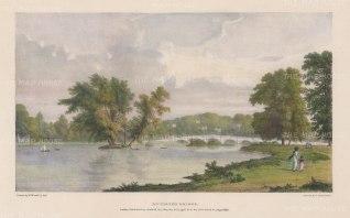 Richmond. View towards Richmond Bridge. After William Westall, RA.