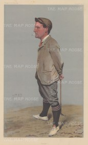 "Vanity Fair: Harold Hilton. 1903. An original antique chromolithograph. 7"" x 12"". [SPORTSp3082]"