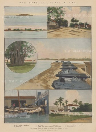 The Spanish-American War: Fortifications and harbour.