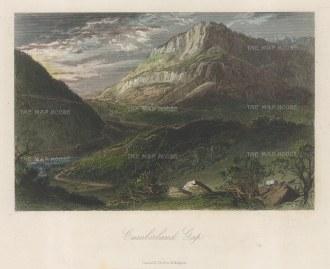 "Picturesque America: Appalachian Mountains, Virginia. 1872. A hand coloured original antique steel engraving. 10"" x 7"". [USAp4837]"