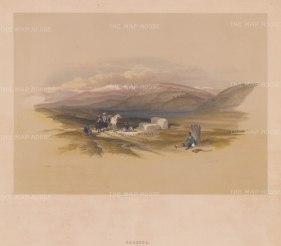 "Roberts: Sarepta. 1843. A hand coloured original antique lithograph. 14"" x 10"". [MEASTp1329]"