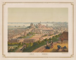 "Lenz: Edinburgh. 1850. An original colour antique lithograph. 18"" x 13"". [SCOTp1120]"