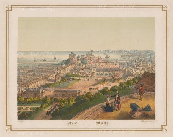 "Lenz: Edinburgh. 1850. An original colour antique lithograph. 18"" x 13"". [SCOTp1120]"