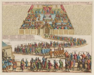"Chatelain: Scottish Government, Edinburgh. 1719. A hand coloured original antique copper engraving. 18"" x 15"". [SCOTp1210]"
