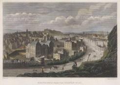 "Clark: Edinburgh. c1840. A hand coloured original antique steel engraving. 8"" x 6"". [SCOTp1692]"