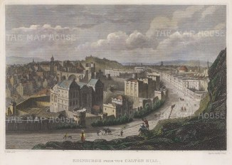 "Clark: Edinburgh. c1840. A hand coloured original antique steel engraving. 8"" x 6"". [SCOTp1692]"