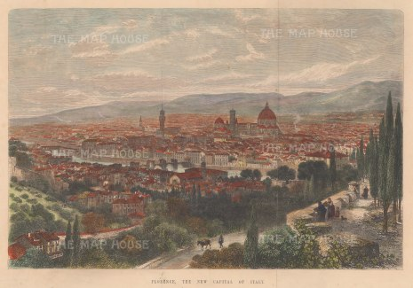 Florence: Following the annexation of Tuscany into the Kingdom of Italy, Florence became the capital until 1870 when it was replaced by Rome.